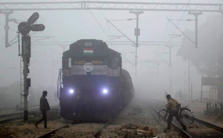 gangman hit by train while saving life of man crossing track