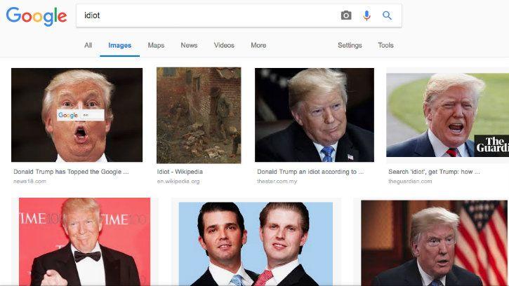 google trump idiot