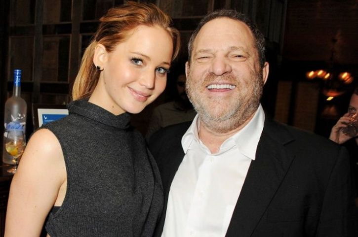 Harvey Weinstein and Jennifer Lawrence