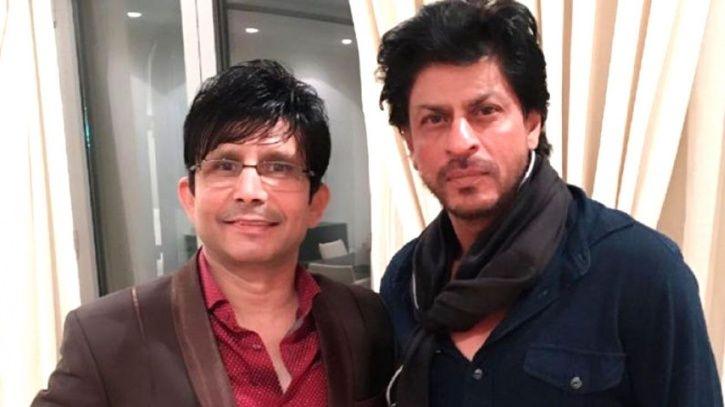 Kamaal R Khan with Shah Rukh Khan.