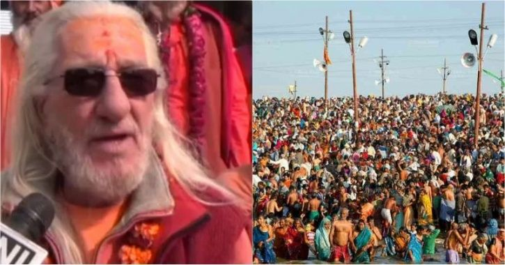 Meet 'French Baba' AKA 'Bhagwan Giri' Who Is A Star Attraction At Kumbh Mela In Prayagraj