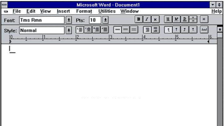 microsoft word example