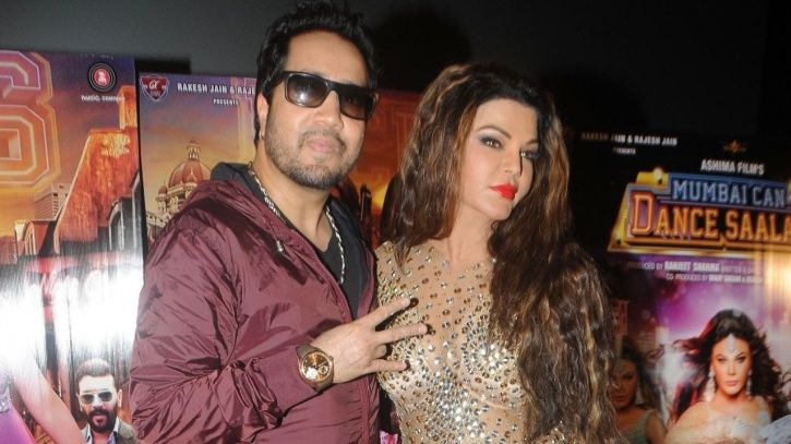 Mika singh with Rakhi Sawant after kiss controversy/