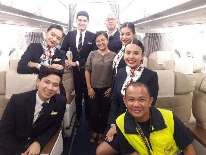 Philippines Airline, Filipina only passenger, only passenger on flight, woman only passenger