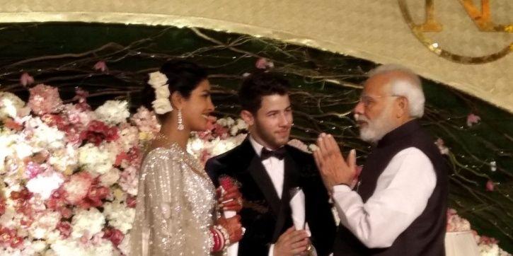 Prime Minister Narendra Modi attends Priyanka Chopra and Nick Jonas