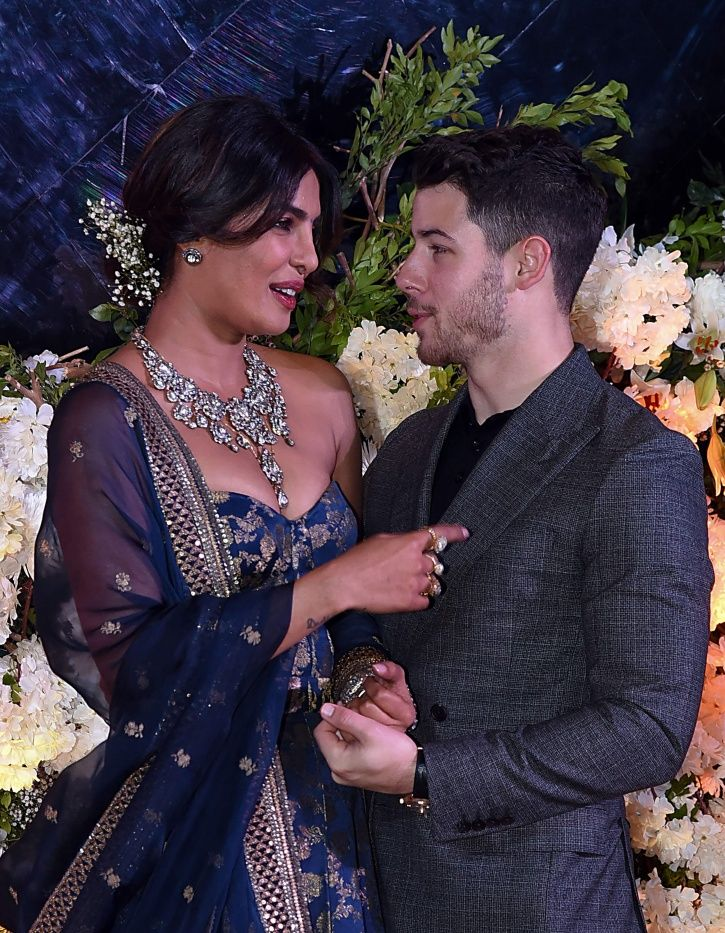 Priyanka Chopra blushes As She Introduces Nick Jonas To Everyone at the Mumbai reception.