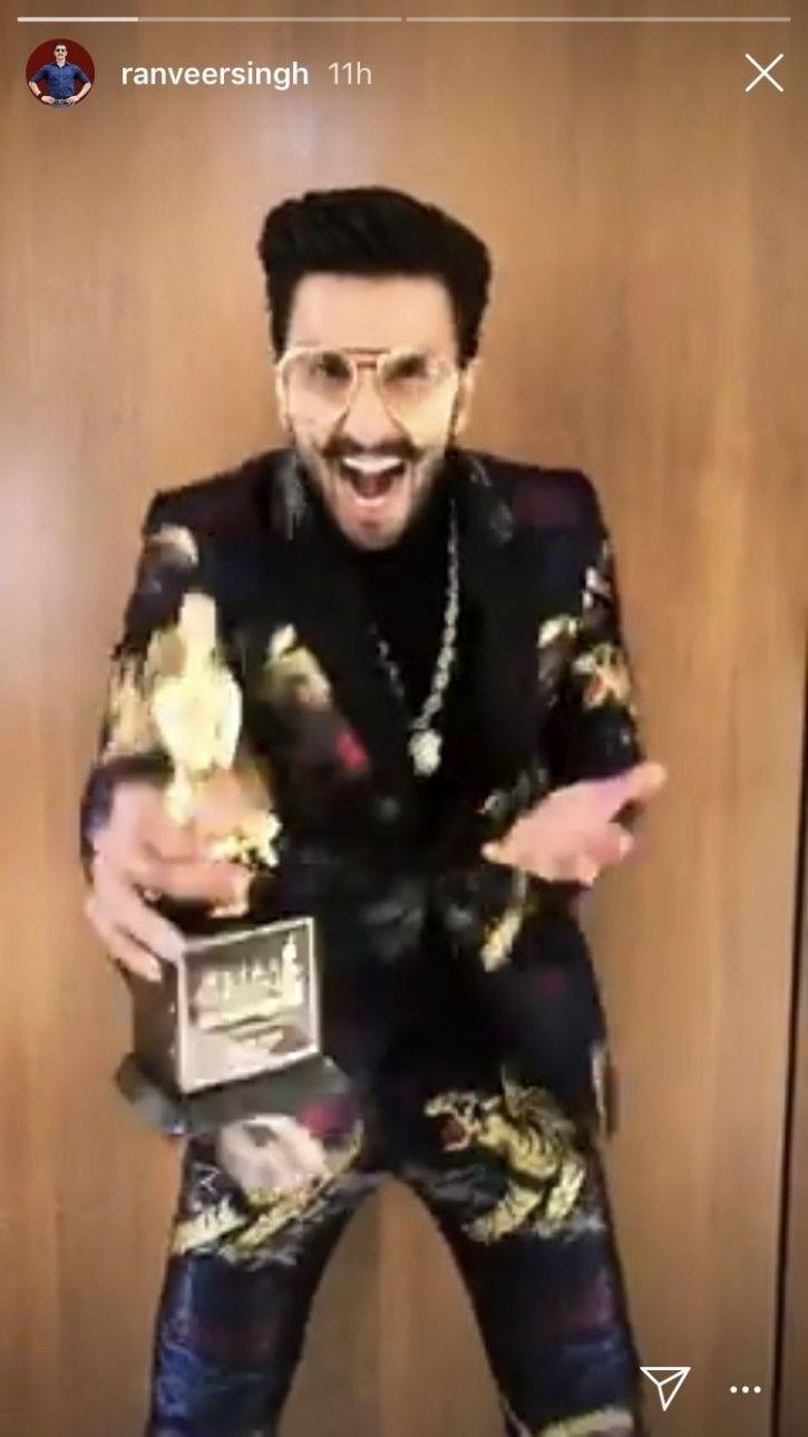 Ranveer Singh Wins Best Actor, Leaves Wife Deepika Padukone Teary-Eyed By Saying 'Baby, I Love You'