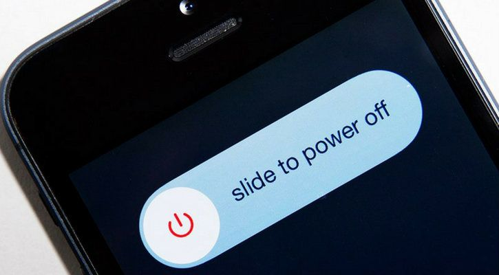 slide to power off your smartphone