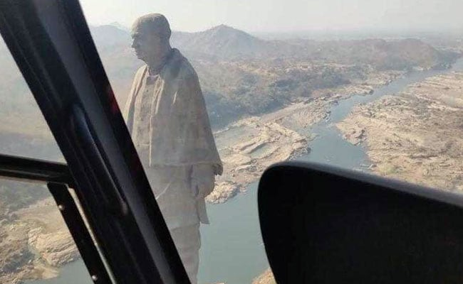 Statue of unity, helicopter, ferry ride, tourists, ticket price, Sunday, Sardar patrel
