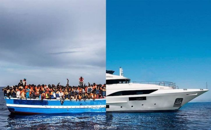 Turkish Photographer's Split Photo Series Is An Eye-Opening Contrast Between Western World & Syria