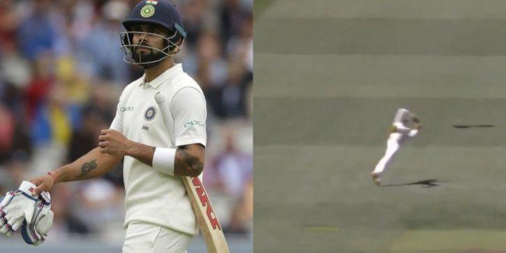 Virat Kohli fell to a stunner