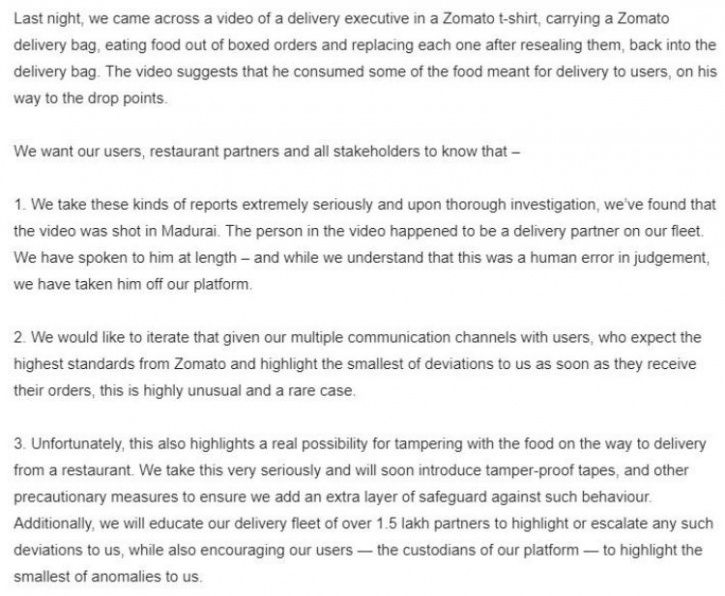 ZOmato, Zomato delivery guy, delivery guy eats out of orders, delivery guy eats food, delivery guy t
