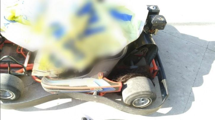 accident in go karting track