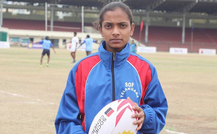 B Anusha, whose exploits on the sporting field during the inter-school cricket