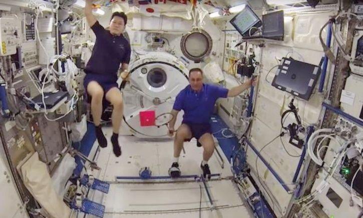 badminton in space