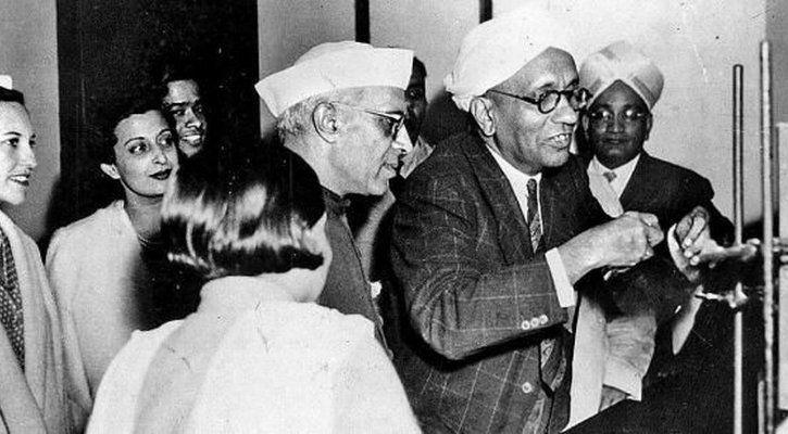CV Raman with Nehru