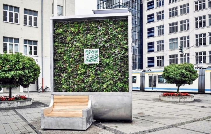 mobile wall of moss