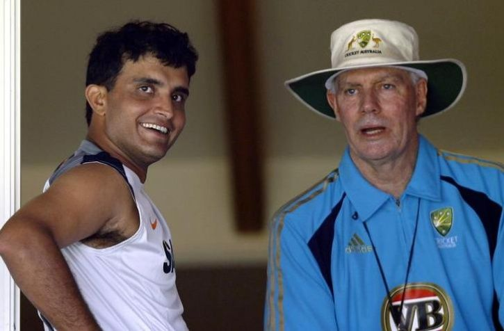 Sourav Ganguly and greg chappel