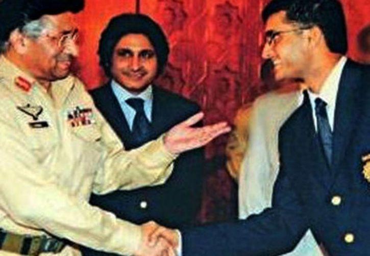 Sourav Ganguly and pervez musharraf