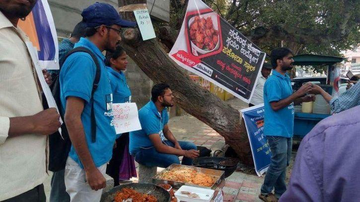 Students Wearing Degree Robe Sell Modi Pakoda
