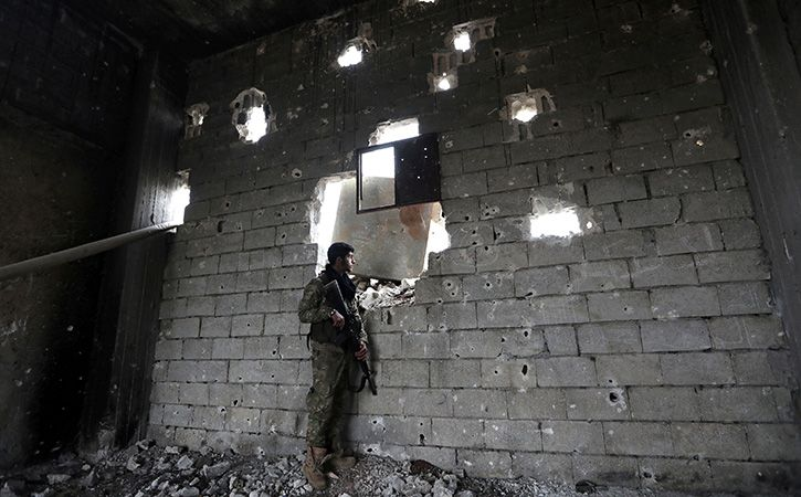 The Islamic State group is being routed from its strongholds