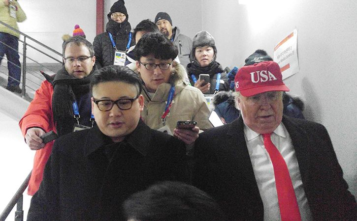 Trump And Kim Play Nice At Olympics