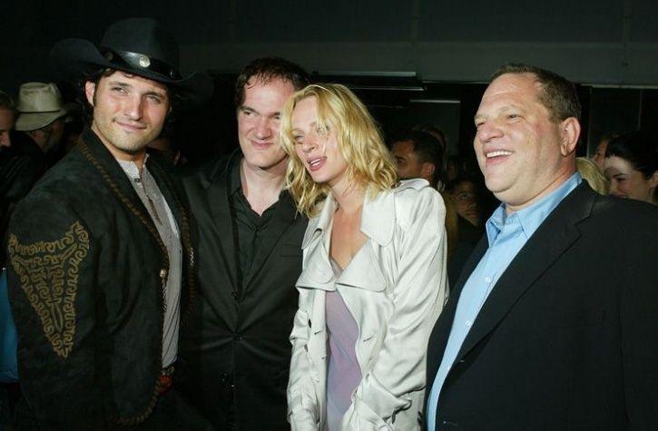 Uma Thurman and Harvey Weinstein