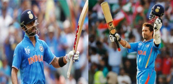 Virat Kohli is hailed as Sachin Tendulkar