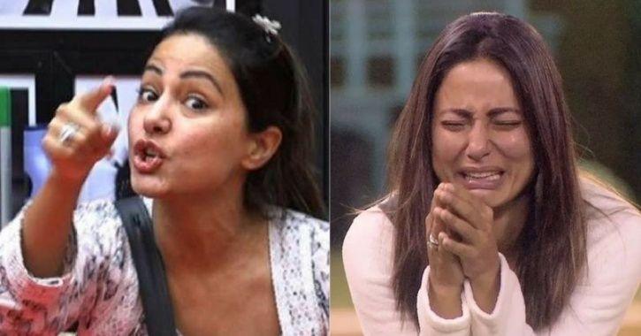 A still of angry Hina Khan from Bigg Boss 11.