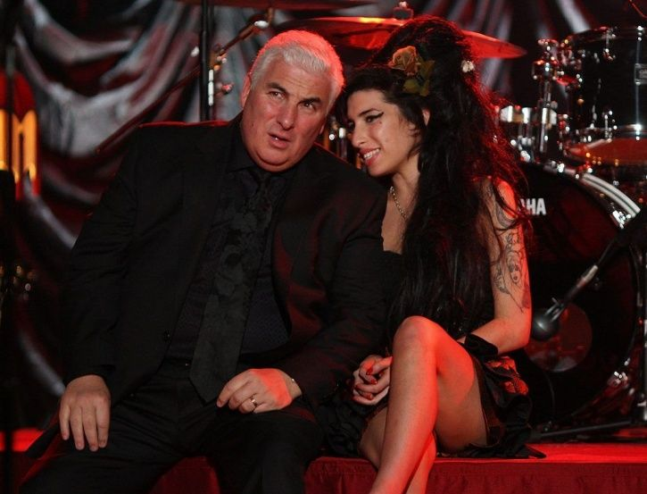 Amy Winehouse with her father Mitch Winehouse.