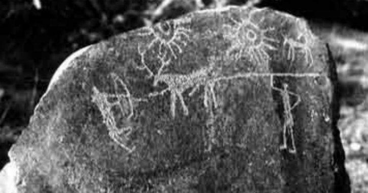 ancient india rock drawing supernova