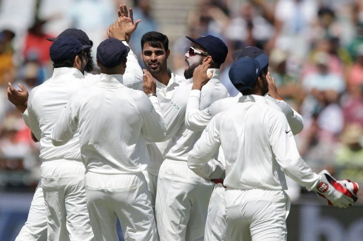 Bhuvneshwar Kumar reduced South Africa to 12/3 at one point.