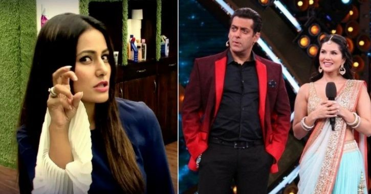 Hina Khan from Bigg Boss 11 commented on Salman Khan and Sunny Leone