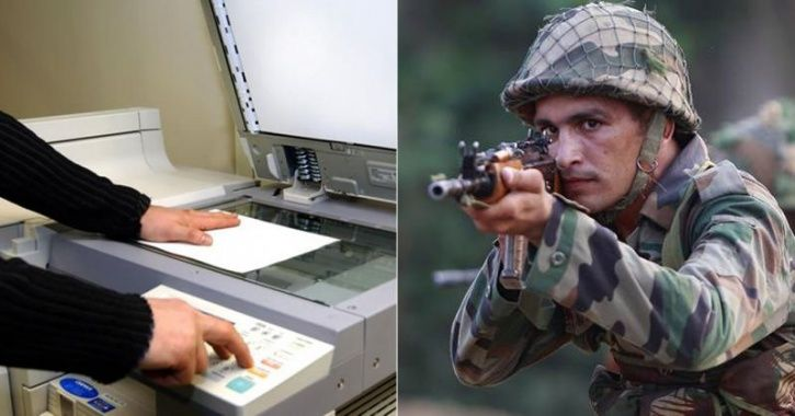 indian army maps in photocopy shop