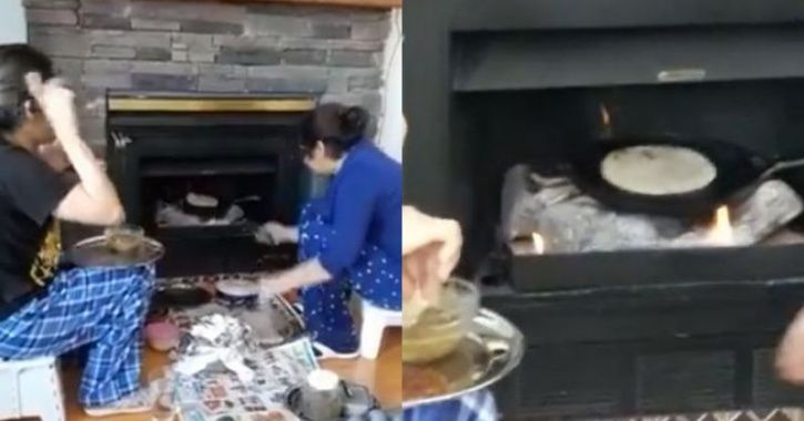 Indian mom cookin rotis
