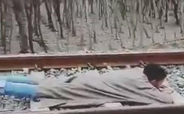 Kashmiri Man Rail Stunt Video Goes Viral