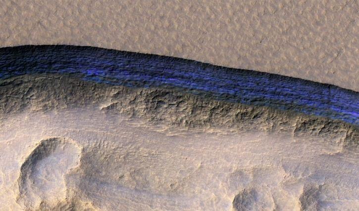 Mars has subterranean ice layers