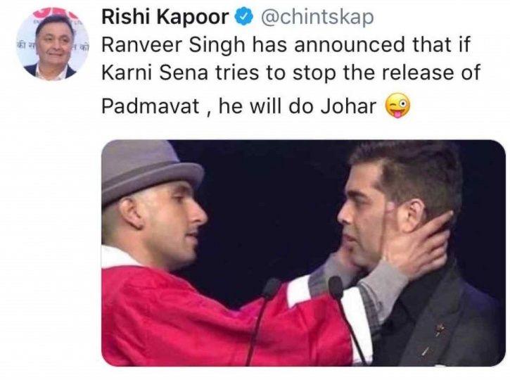 Rishi Kapoor and Ranveer Singh