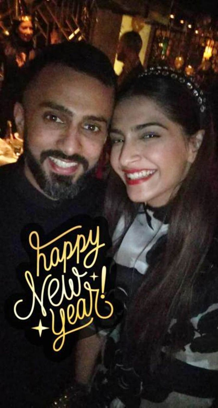 Sonam Kapoor celebrates New Year with boyfriend Anand Ahuja.