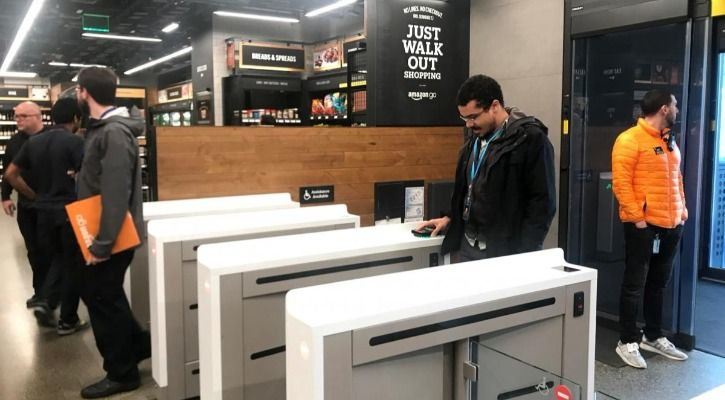 To enter, just scan the code in your Amazon Go app on the terminal - Reuters