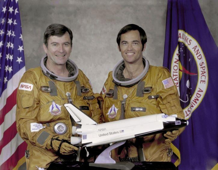 US Astronaut john young left side