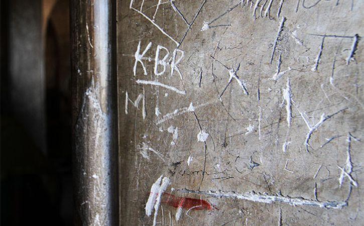 Vandals turn walls of Charminar