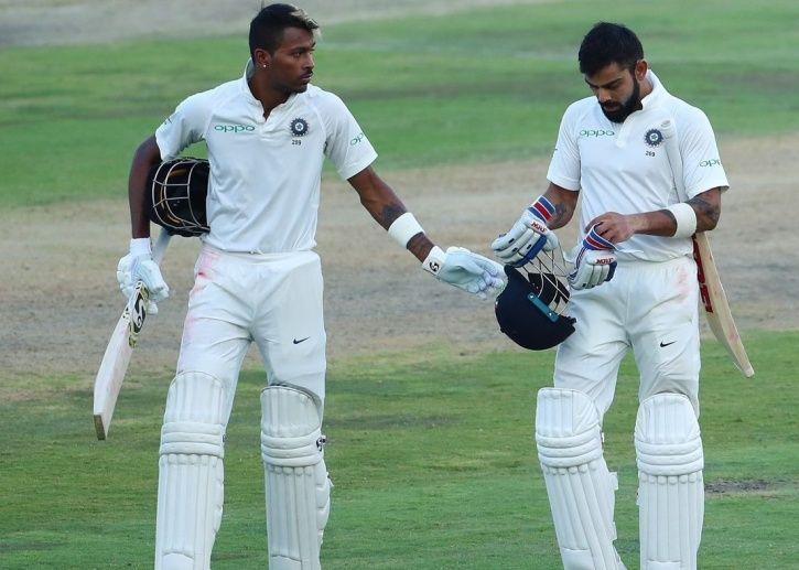 Virat Kohli and Hardik Pandya put on 45 runs for the 6th wicket