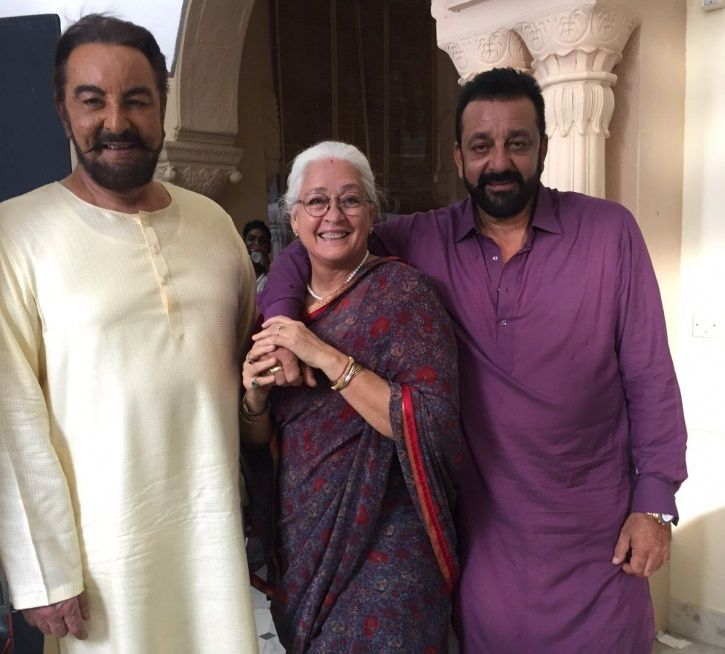 A picture of Kabir Bedi and Nafisa Ali from Saheb Biwi Aur Gangster.