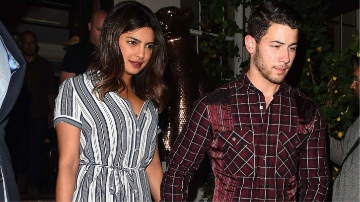 A picture of Nick Jonas and Priyanka Chopra.