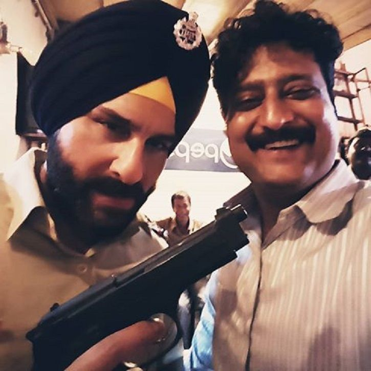 A picture of Sartaj Singh and Constable Katekar from Sacred Games.