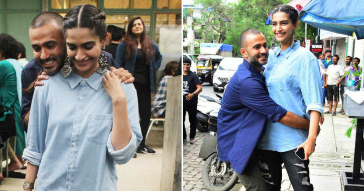 A picture of Sonam Kapoor and Anand Ahuja.
