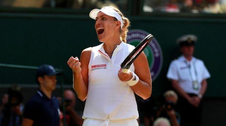 Angelique Kerber won in straight setd