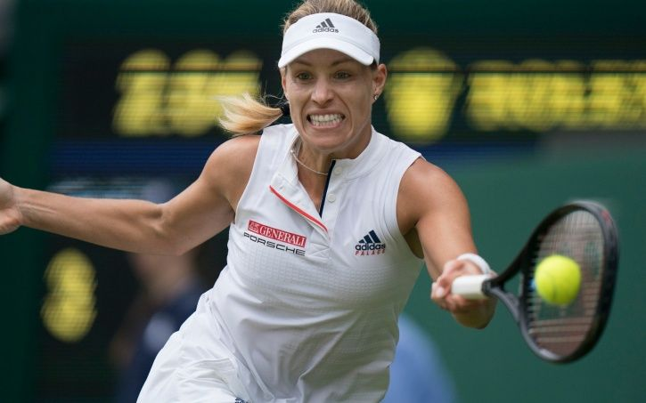 Angelique Kerber won in straight sets