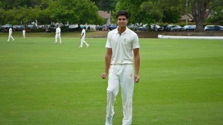 Arjun Tendulkar took 12 balls to take his first wicket